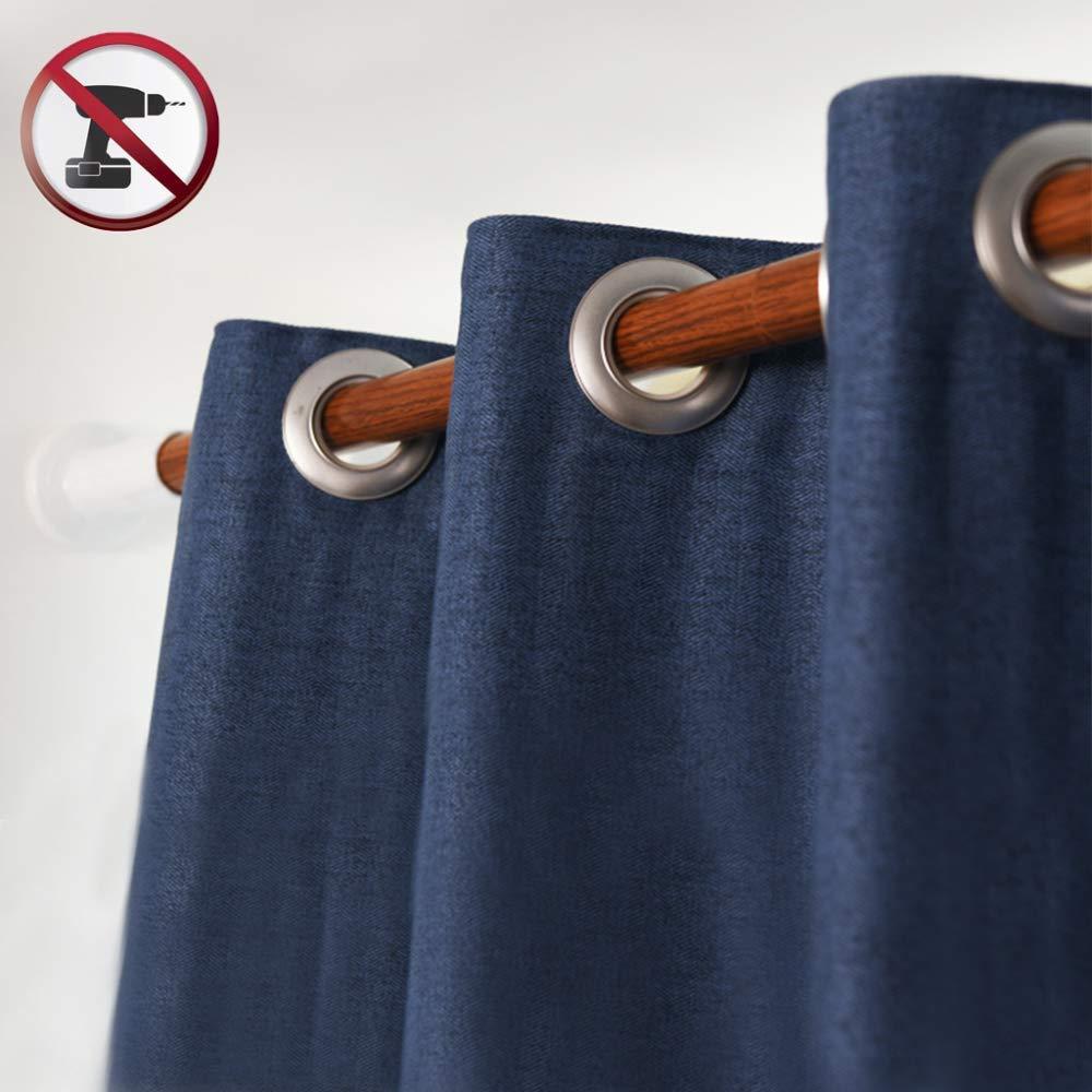 Acero inoxidable-92-127Cm,Originalgrain,228-277cm ACZZ Barra de cortina sin perforaciones 0.92-4.3M Dormitorio Balc/ón Ropa Riel Impermeable Resistente al desgaste Barra de cortina de ducha retr/áctil