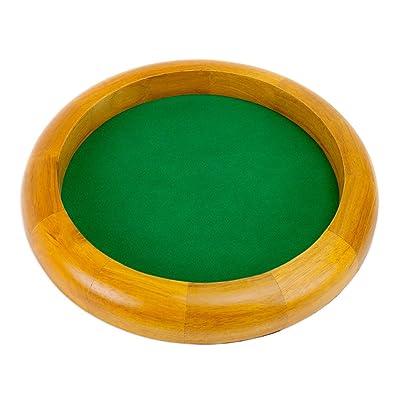 12-Inch felt-lined bandejas de madera dados por Wiz dados - LYSB00DDYKOSS-SPRTSEQIP, Round: Deportes y aire libre