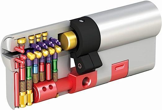 MAUER NW5 Bombin de Seguridad 31x41 DOBLE EMBRAGUE Color Niquel Cilindro Bombillo Reforzado Antirotura Antibumping Antitaladro Leva Antiextracci/ón Cerradura para Puerta 5 LLaves Tarjeta de Seguridad