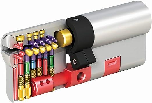 MAUER NW5 Bombin de Seguridad 31x41 DOBLE EMBRAGUE Color Laton Cilindro Bombillo Reforzado Antirotura Antibumping Antitaladro Leva Antiextracci/ón Cerradura para Puerta 5 LLaves Tarjeta de Seguridad