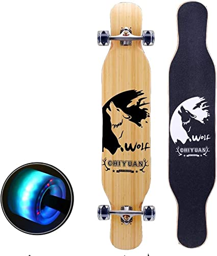 ZLIJUN Adult Boys /& Girls Beginners Teenagers Four-Wheeled Scooter Double Kick Concave Skate Boards,Flash