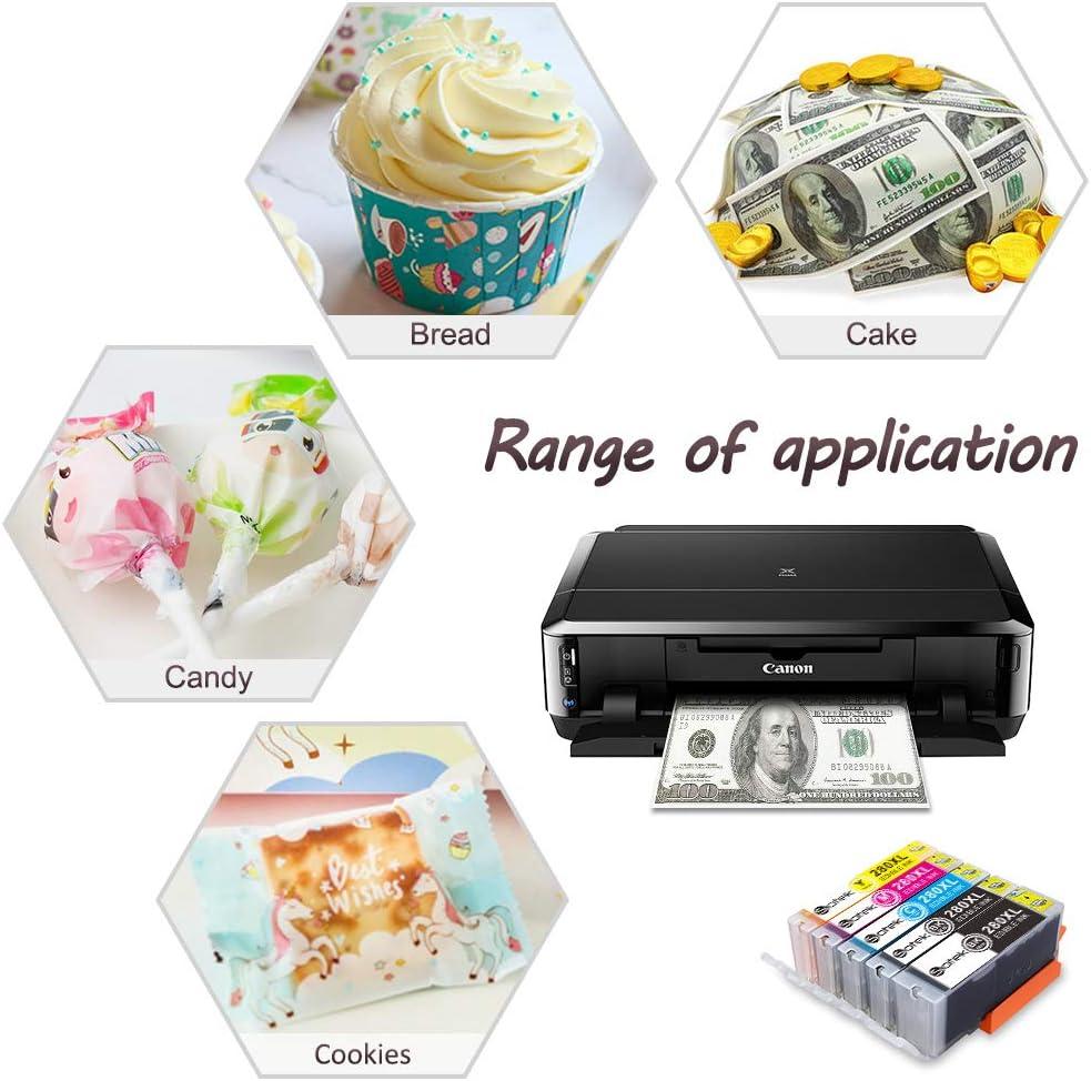 Sotek 280XL 281XL 280 281 XL Bakey Ink Cartridges for C AKE Printer,C AKE Maker 5 Pack, No Photo Blue Work with PIXMATR7520 TR8520 TS6120 TS6220 TS8120 TS8220 TS9120 TS9520 TS9521C TS702 Printer