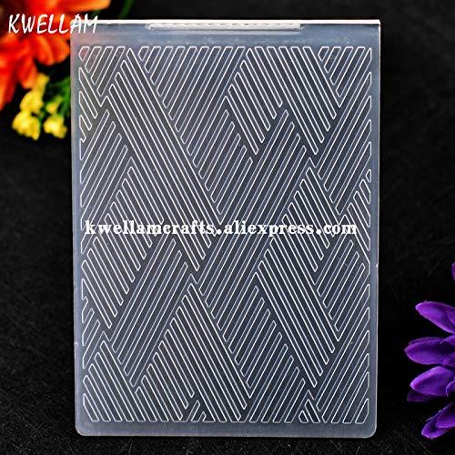 Dalab Textile Stripes Plastic Embossing Folder for Scrapbook DIY Album Card Tool Plastic Template 10.6x14.5cm KW7073111