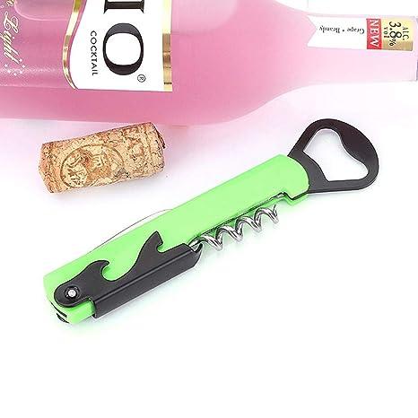 Biback Sacacorchos para Botellas, Acero Inoxidable Abrebotellas de Vino Regalo de promoción Obsequio Multifuncional Caballo