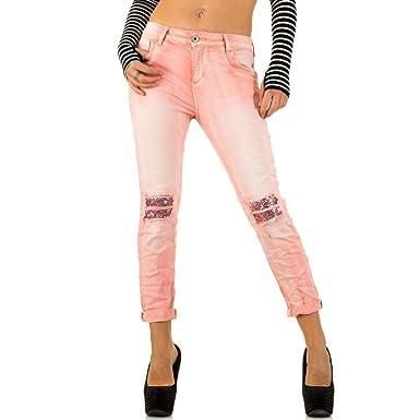 d003b2c827ba Schuhcity24 Damen Jeans Hose Jeanshose Damenjeans Mozzaar Pailletten Skinny  Röhre Röhrenjeans Bluejeans  Amazon.de  Bekleidung