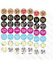 """1225 1.5"""" Thank You Stickers Labels by OUNENO for Business Thanksgiving Party Favors Supplies Gift Bags Envelopes"""