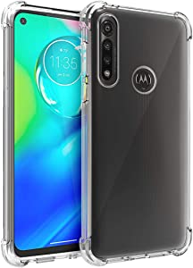 Osophter for Moto G Power Case Clear Transparent Reinforced Corners TPU Shock-Absorption Flexible Cell Phone Cover for Motorola Moto G Power(2020)(Clear)