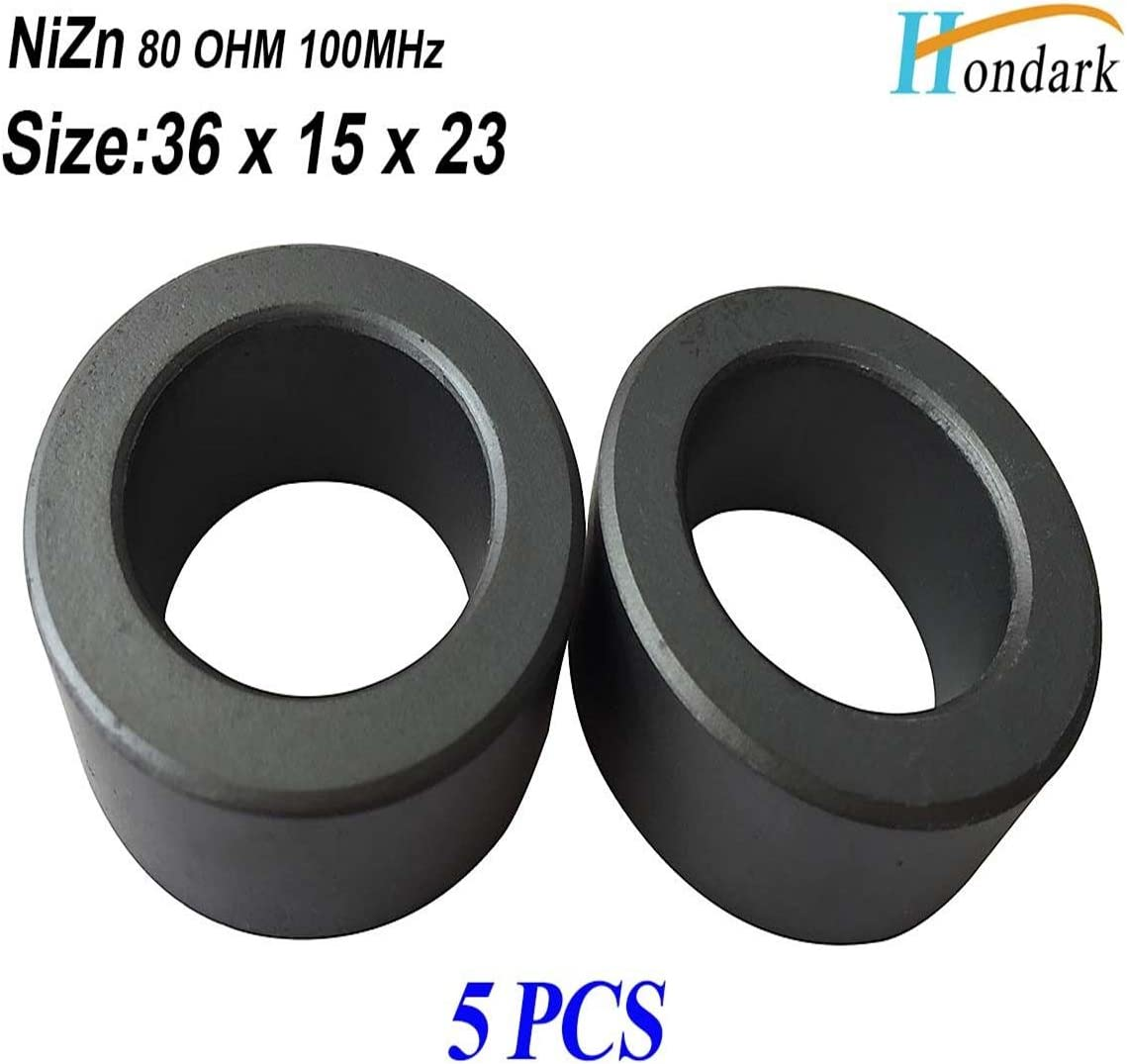 5ea 36X23X15mm Cable Wire EMI RF Filter ferrite Bead Chokes Inductor ferrite Ring Noise Cancel ferrite core