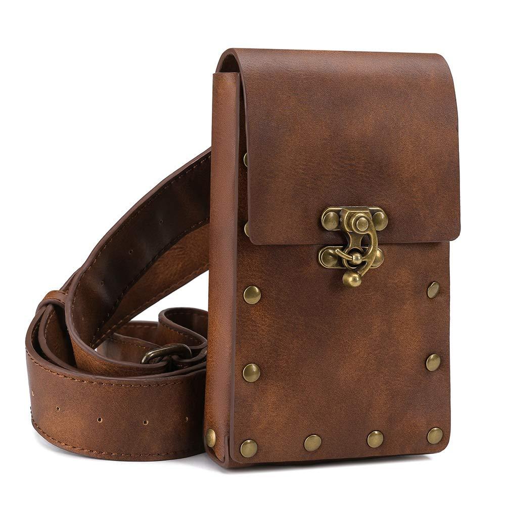 Amazon.com: Steampunk Bolso bandolera de piel para llevar al ...