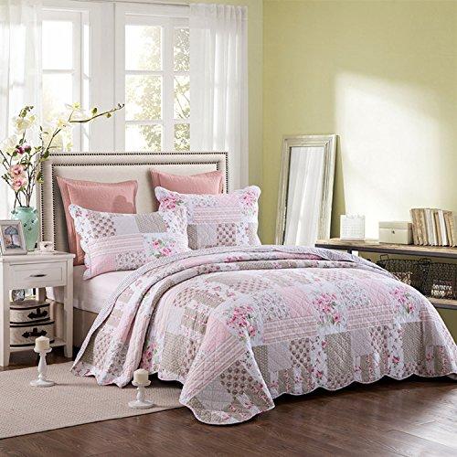 Brandream Girls Rose Comforter Set Romantic Bedspread Queen Size