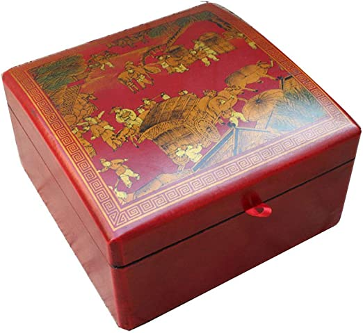 YDJGY Caja Joyero, Caja de Almacenamiento de Caja de Madera ...