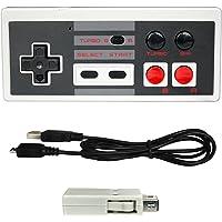OSTENT Rechargeable Wireless Controller Gamepad for Nintendo NES Mini Classic Edition Famicom Mini Console Color White