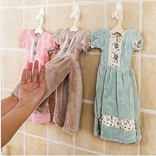 Binmer(TM) Creative Lovely Princess Skirt Dress Hand Towel Cute Absorbent Cora Kids Bathroom