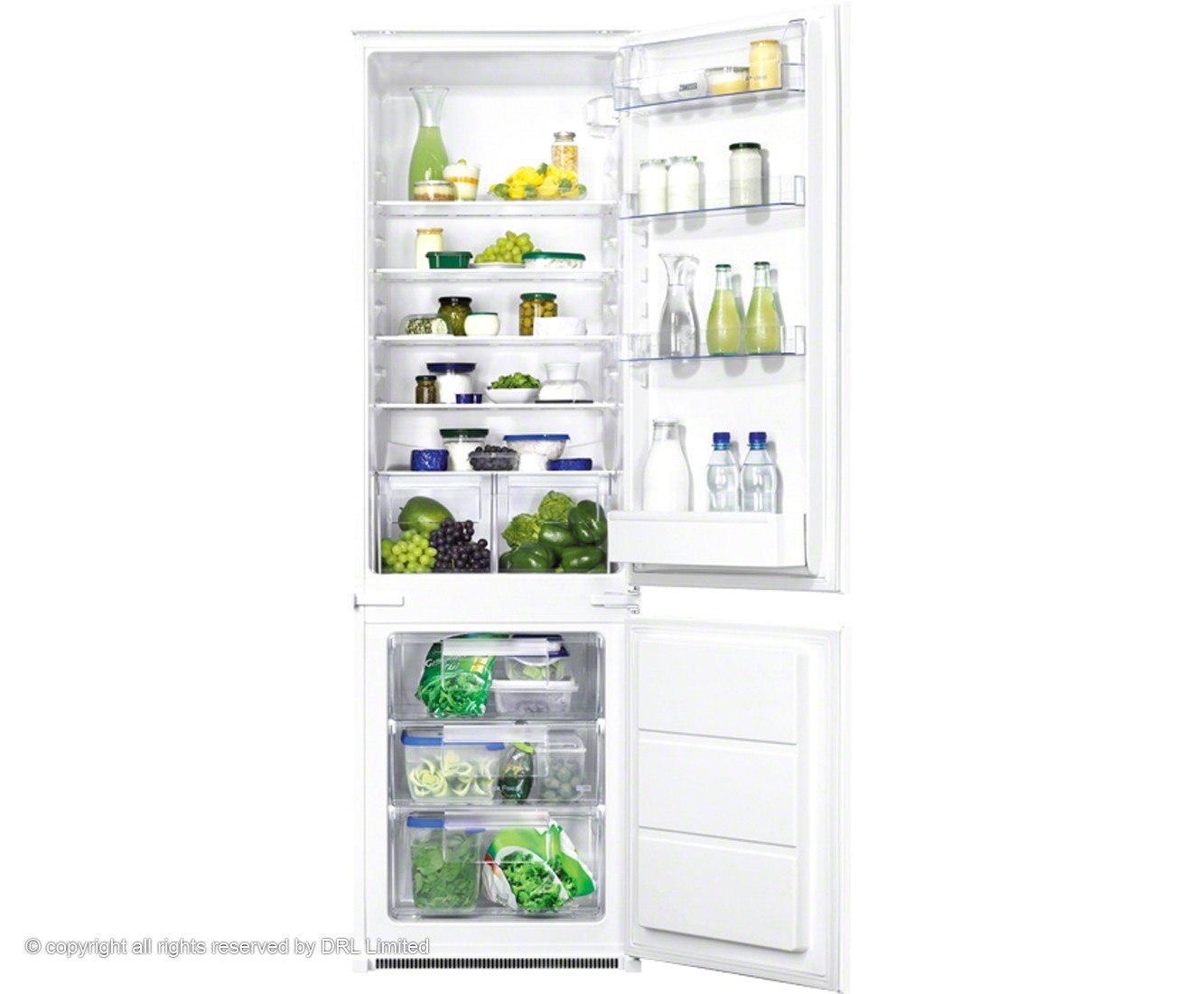 Zanussi ZBB28441SA nevera y congelador Color Blanco: Amazon.es ...