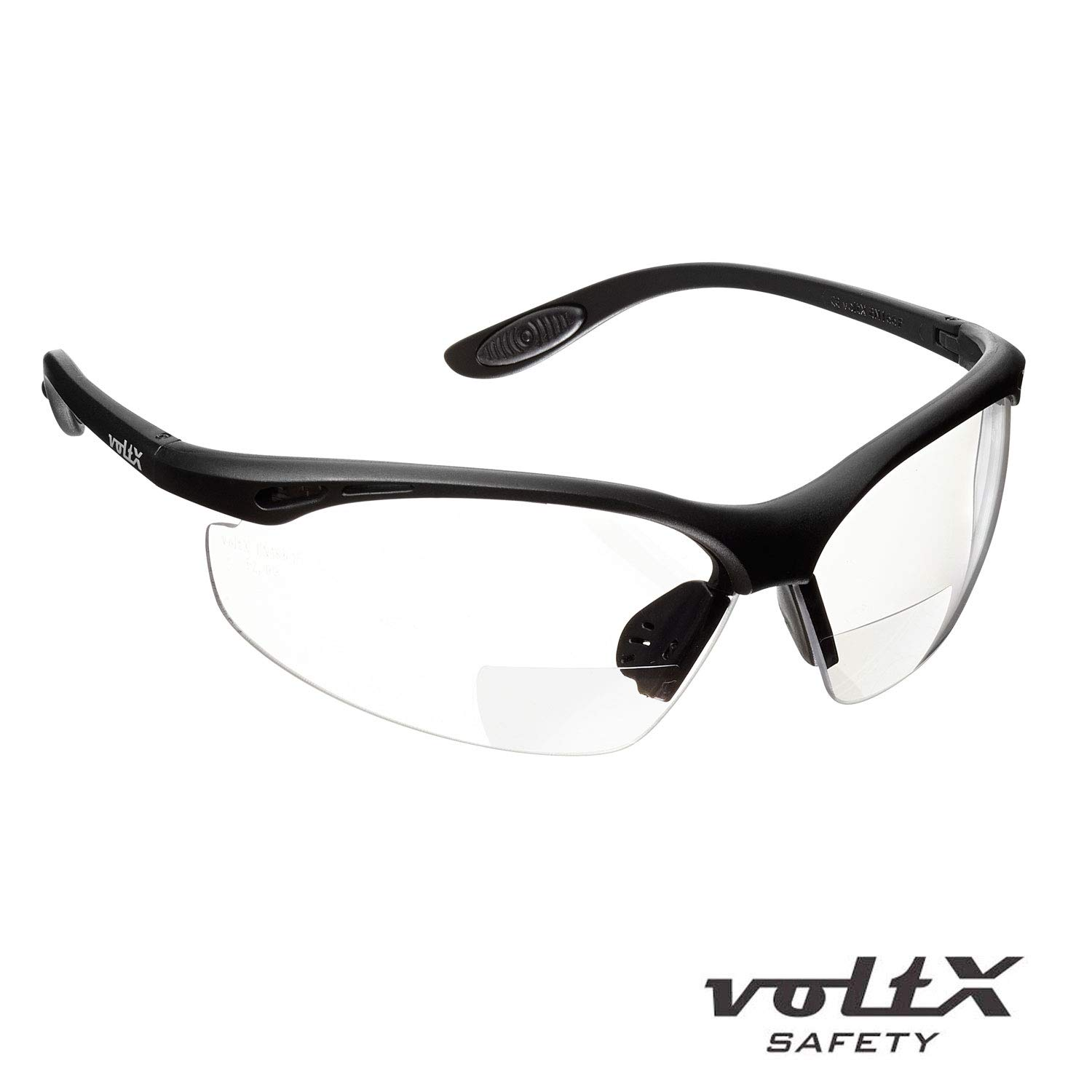 CE EN166F certified//Cycling Sports Glasses includes safety cord voltX CONSTRUCTOR BIFOCAL Reading Safety Glasses CLEAR +1.5 Dioptre