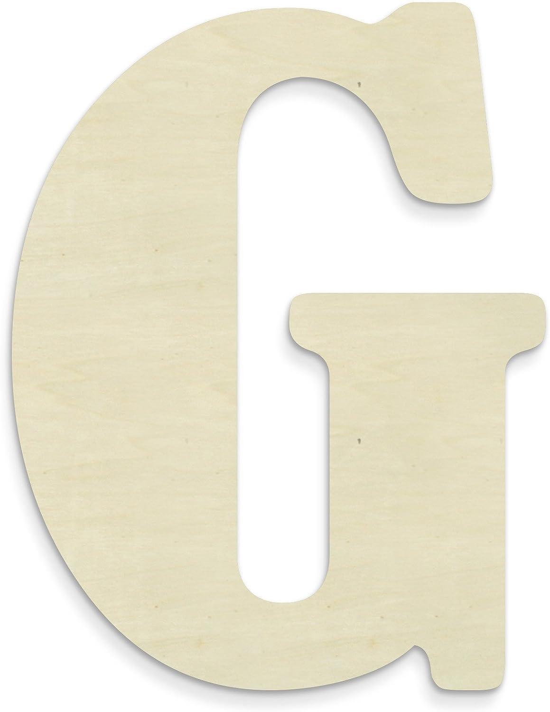 UNFINISHEDWOODCO Unfinished Wood Letter, 15-Inch, Monogrammed G, Large