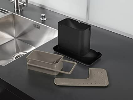 YOFIT Kitchen Soap and Sponge Holder, Sink Caddy Organizer (Grey)