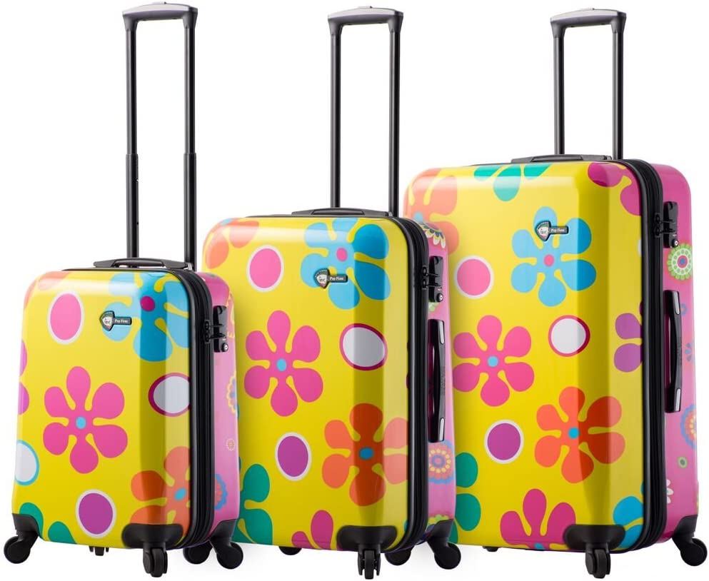 Mia Toro Pop Fiore Hardside Spinner Luggage 3PC Set, Gallio, 28 Inches