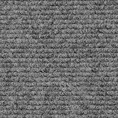 Indoor/Outdoor Carpet with Rubber Marine Backing - Several Sizes Available - Carpet Flooring for Patio, Porch, Deck, Boat, Basement or Garage - Gray