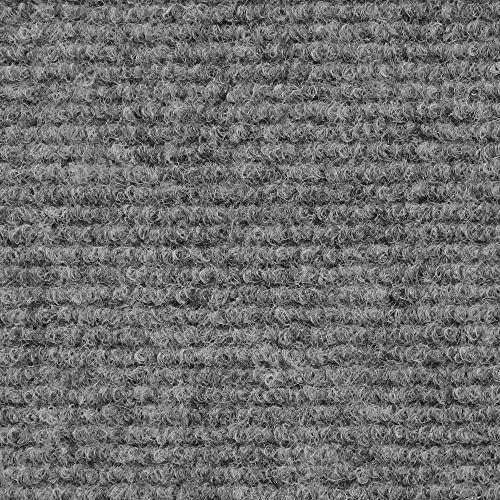 - House, Home and More Indoor Outdoor Carpet with Rubber Marine Backing - Gray - 6 Feet x 10 Feet