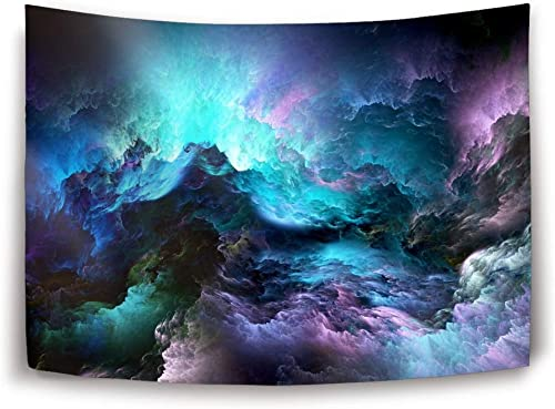 Miaoquhe Tapestry Wall Hanging Abstract 3D Graphics Psychedelic Nebula Space Tapestry for Bedroom Living Room Dorm 80 x 60 inch