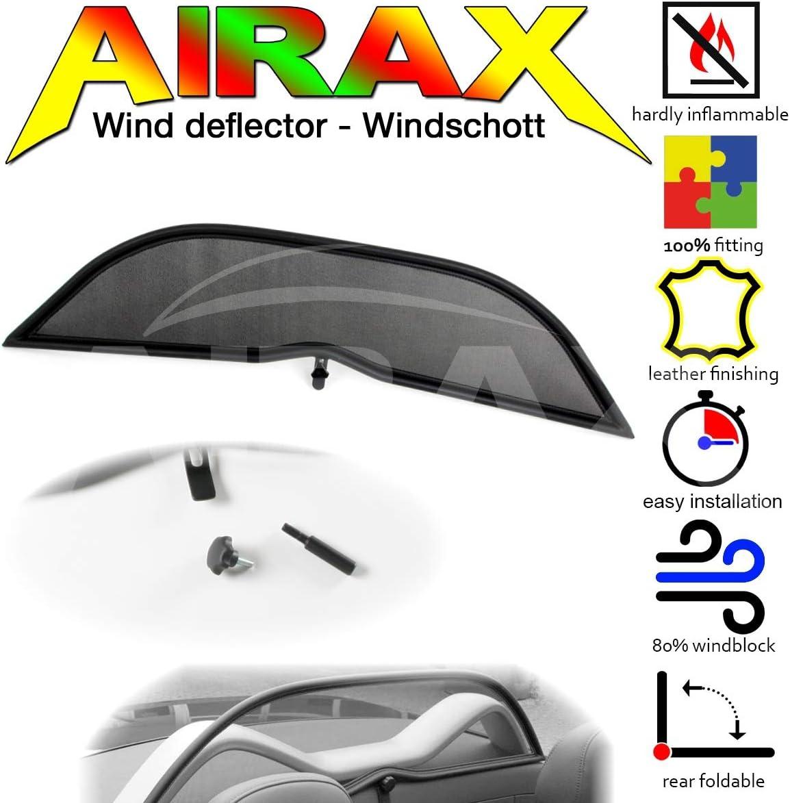 250 Airax Windschott f/ür TR 4 TR 5 TR 6 Windabweiser Windscherm Windstop Wind deflector d/éflecteur de vent IRS