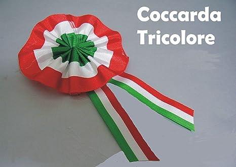 Coccarda Tricolore Artigianale In Tessuto 10 X 5 Cm Amazonit
