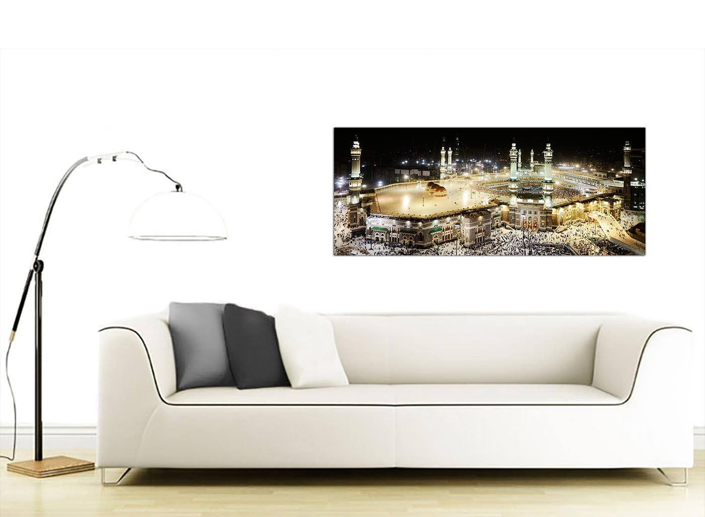 Large Islamic Canvas Wall Art Prints of Muslim Hajj Pilgrimage to Kabba in Mecca at Night - 1190 - Wallfillers Amazon.co.uk Kitchen u0026 Home  sc 1 st  Amazon UK & Large Islamic Canvas Wall Art Prints of Muslim Hajj Pilgrimage to ...