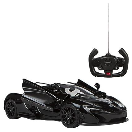 Rastar - Coche teledirigido 1:14, McLaren P1 puertas de gaviota (negro) (ColorBaby 85182)