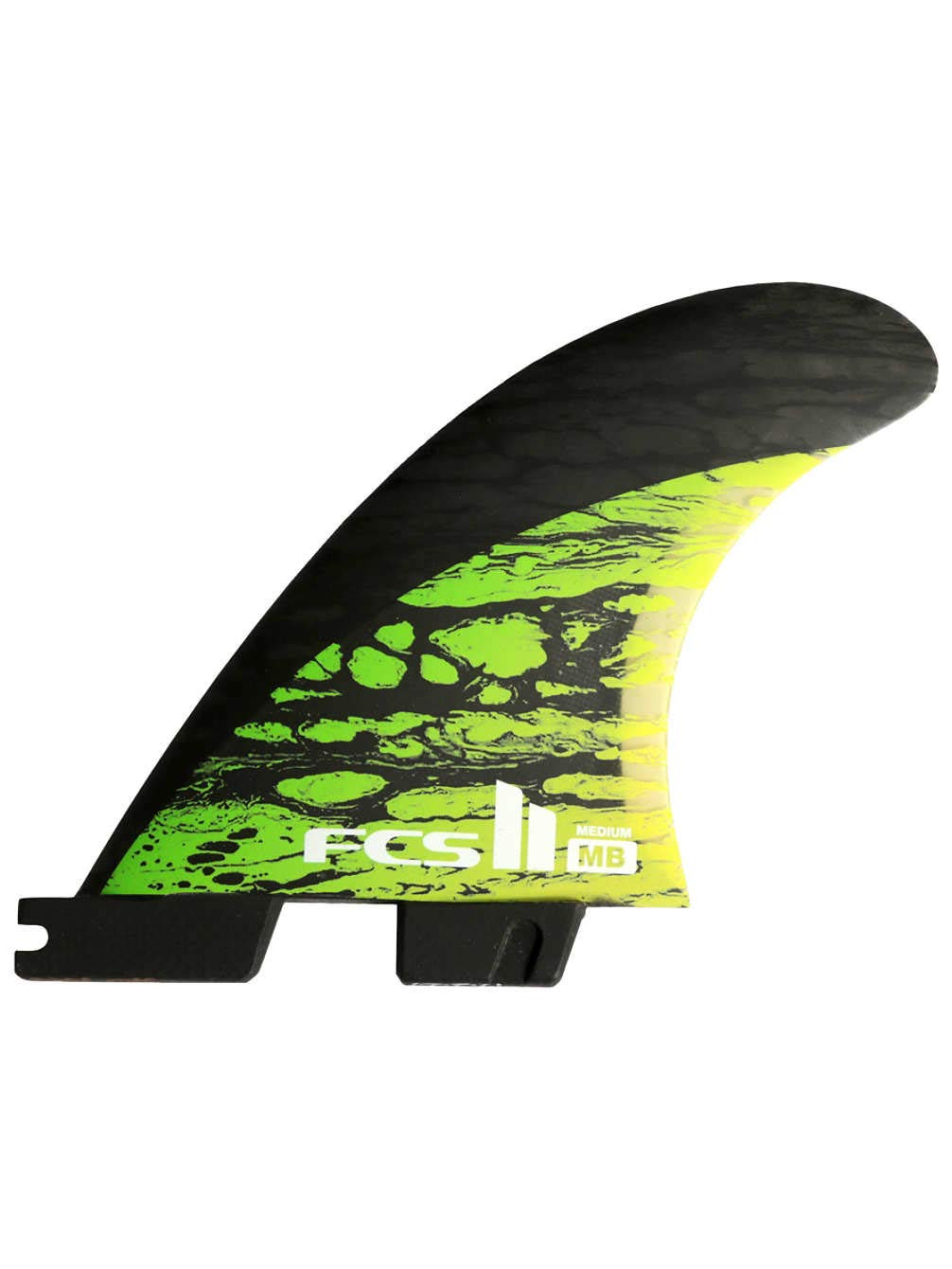 FCS エフシーエス フィン FCS II MB PC CARBON TRI FIN Set Mサイズ Matt Biolos マットバイオロスト モデル FMBM-CC03-MDFSR Medium GREEN B07B2HDFBT