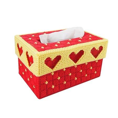 L&Y Cajas DIY Europeo Personalizado Creativo 3D Punto de Costura Dormitorio Sala de Estar Linda Caja de Tejido de Bordado estéreo (Color : W): Amazon.es: ...