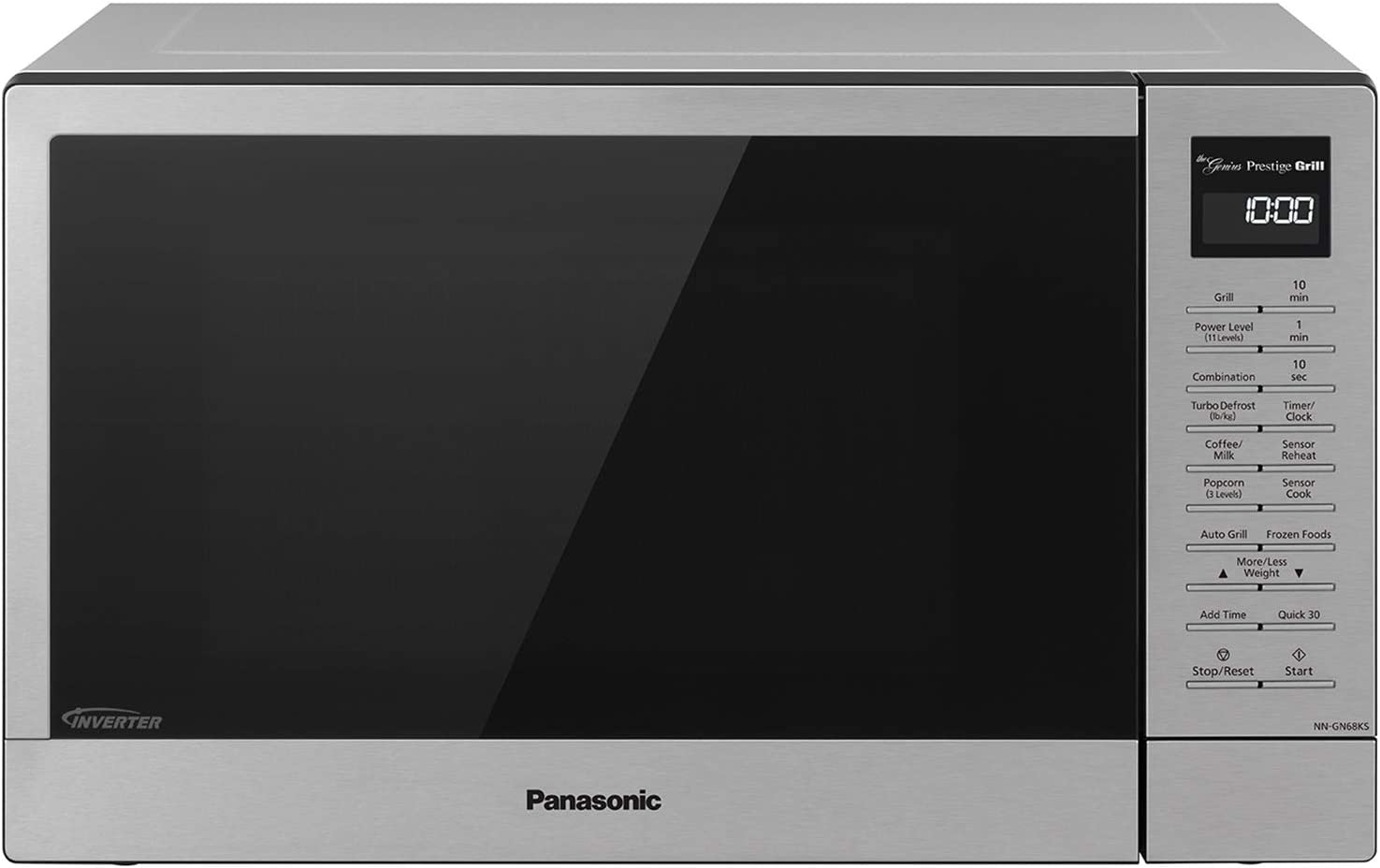 Panasonic Countertop Microwave Oven with FlashXpress Broiler, Genius Sensor Cooking, Popcorn Button and 1000W of Cooking Power - NN-GN68KS – 1.1 cu. ft (Stainless Steel)