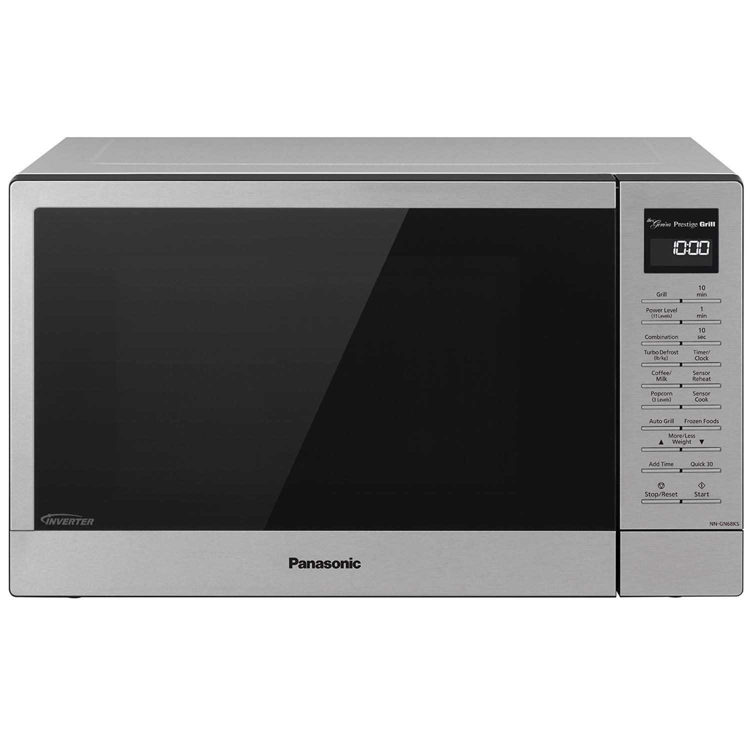Panasonic Countertop Microwave Oven with FlashXpress Broiler, Genius Sensor Cooking, Popcorn Button and 1000W of Cooking Power - NN-GN68KS - 1.1 cu. ft (Stainless Steel)