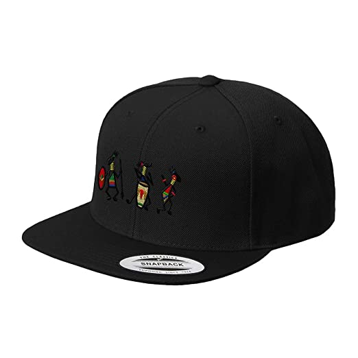 ef95fe4f46b Image Unavailable. Image not available for. Color  Speedy Pros African  Tribal People Embroidered Flat Visor Snapback Hat Black
