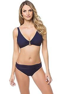 c0fd268d60 Heidi Klein Women's Body Metallic Hardware Bralette Bikini Top (D-G Cup)