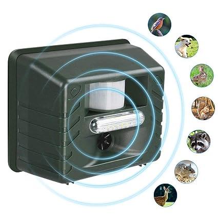 Impulsión de animales, control de animales por ultrasonido al aire libre, repelente de plagas