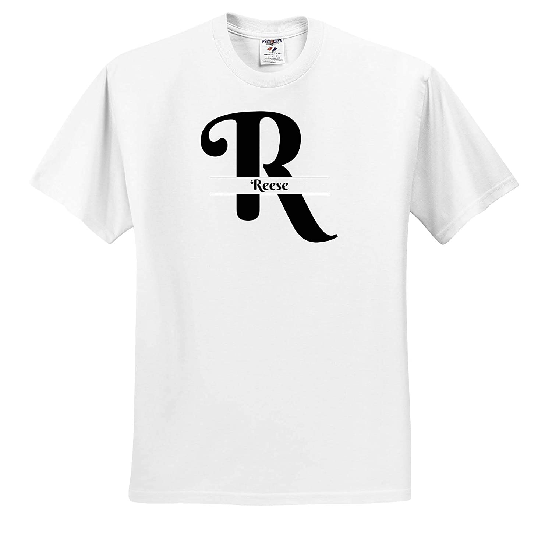 Reese T-Shirts Bold Script Monogram R 3dRose BrooklynMeme Monograms