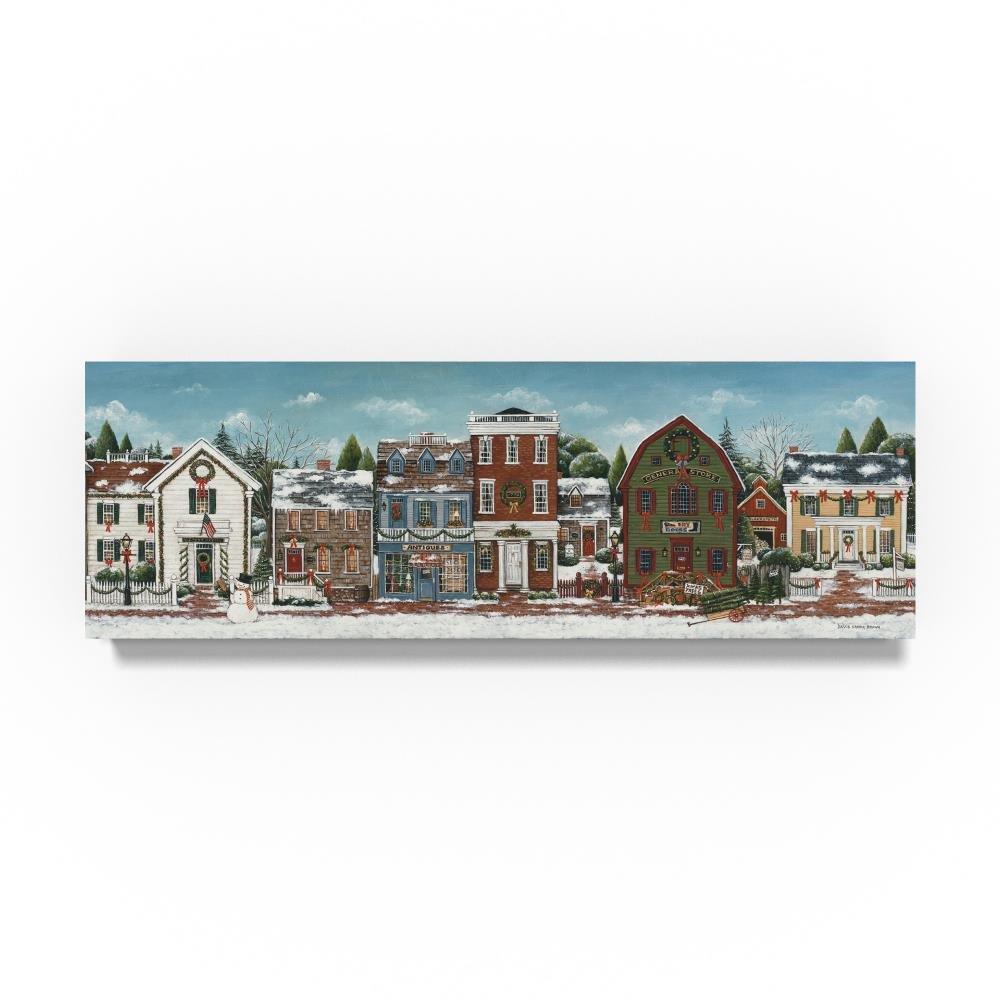 クリスマス村Crop by David Carter Brown、10 x 81 cmキャンバス壁アート B076V5C9HW