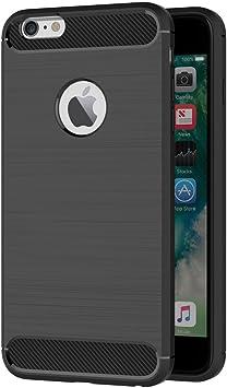 AICEK Funda iPhone X Negro Silicona Fundas para iPhone X Carcasa