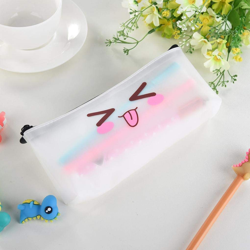 Amazon.com : Simple Jelly Pencil Case Creative Pencil Pouch Purse Cosmetic Bag Travel Makeup Bag Storage Student Stationery Zipper Wallet High Capacity (E) ...