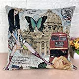Aoesila High-Grade Embroidery Pillow Double-Sided Fabric Pillow Sofa Pillow18 x 18 Inch,43cm44cm