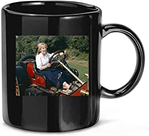 #Hayley #Mills #at #Wheel #of Vintage Sports Car Coffee Mug for Women and Men Tea Cups