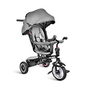 besrey Kids Trike 7 in 1 Baby Tricycle Stroller Bike with Push Handle, Rear Facing Seat, for Toddler Boys/Girls, 1-6 Years