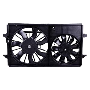 ECCPP Dual Cooling Fan Assembly Replacement fit for 2004-2012 Chevrolet Malibu Pontiac G6 Saturn Aura