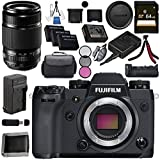 Fujifilm X-H1 Mirrorless Digital Camera (Body Only) 16568731 XF 55-200mm f/3.5-4.8 R LM OIS Lens 16384941 VPB-XH1 Vertical Power Booster Grip Bundle