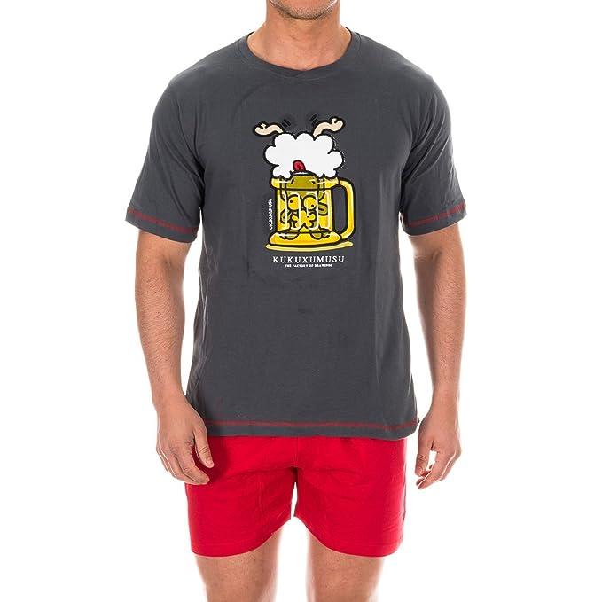 Kukuxumusu - Pijama Chico Hombre Color: Plomo Talla: S