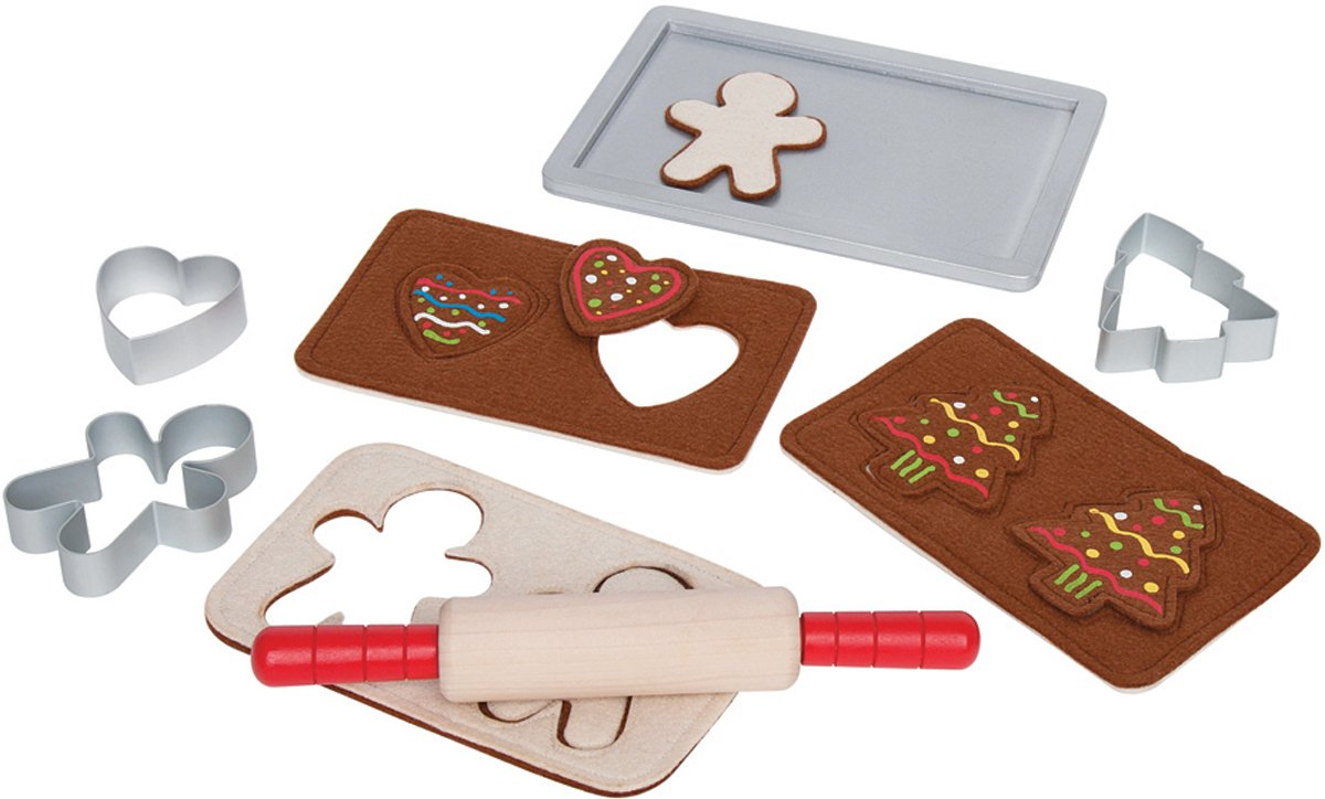 Hape Gingerbread Baking Set Wooden Play Kitchen Food Set and Accessories