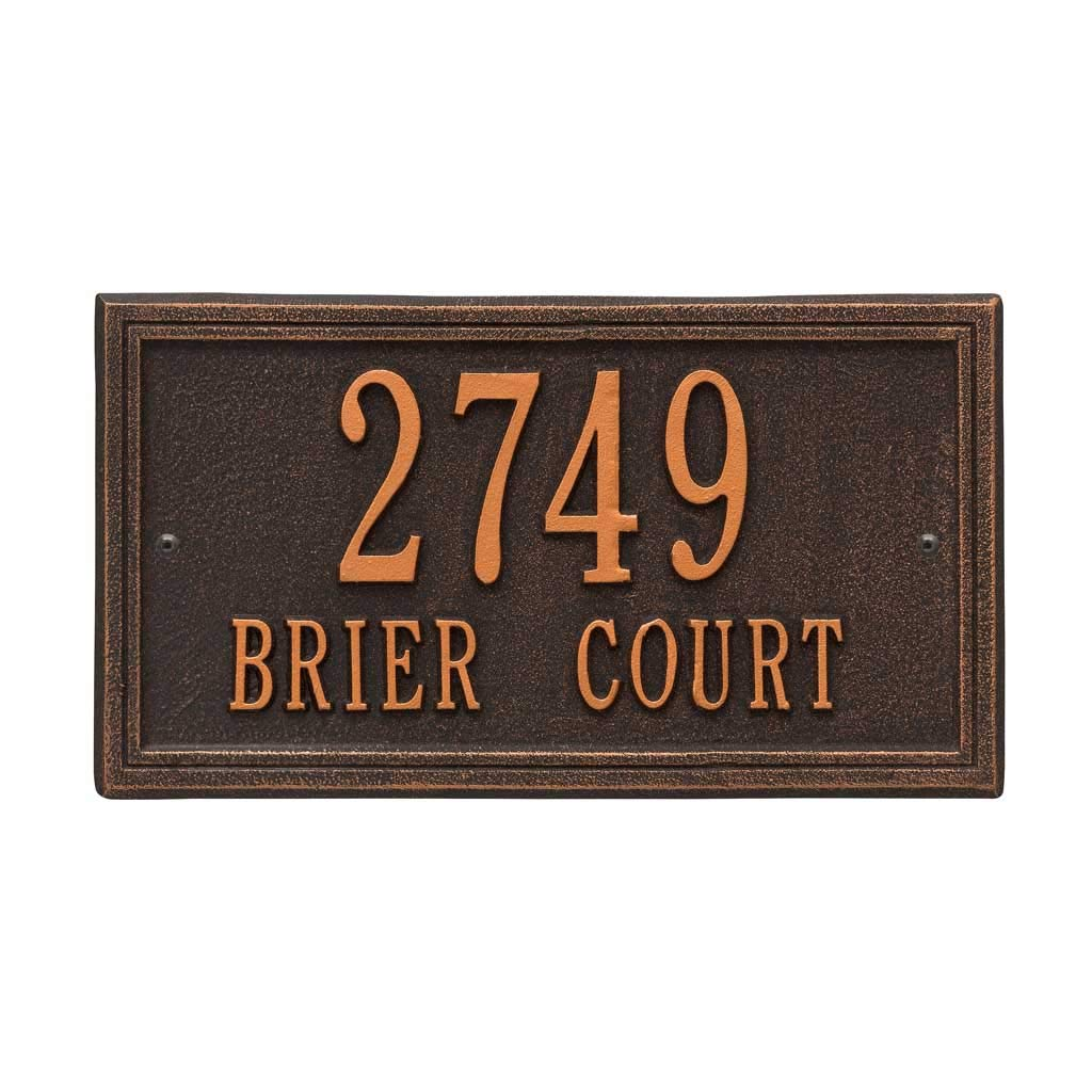 Estate Size Address Sign for House Number and Street Name - Choose Your Color