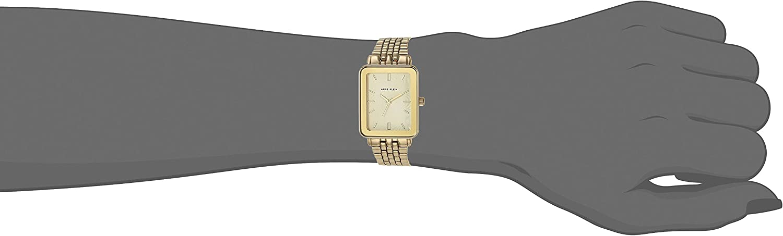 Anne Klein Women's Gold-Tone Bracelet Watch with Rectangular Case, AK/3614 Gold-Tone