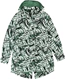 Tommy Hilfiger Women's Printed Hooded Parka Medium Multi Green